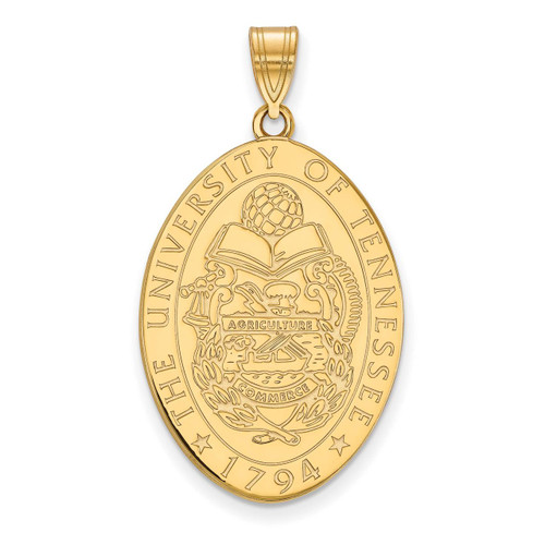 University of Tennessee Large Crest Pendant Gold-plated Silver GP072UTN