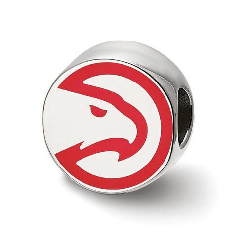 Atlanta Hawks Hawk Head Enameled Logo Bead Sterling Silver SS500HAW