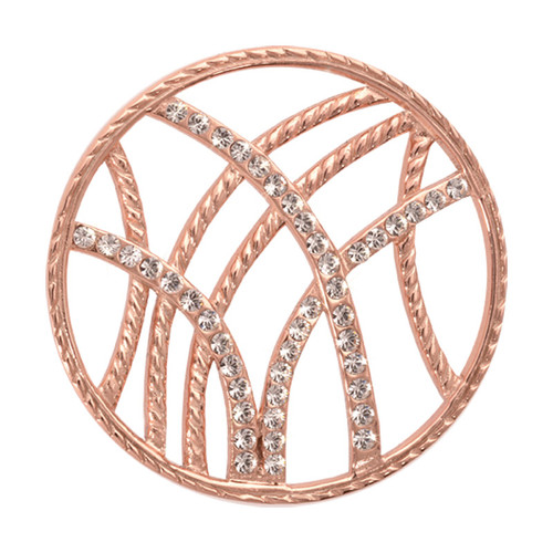 Nikki Lissoni Rebellious Stripes Rose Gold-Plated 33mm Coin C1012RGM