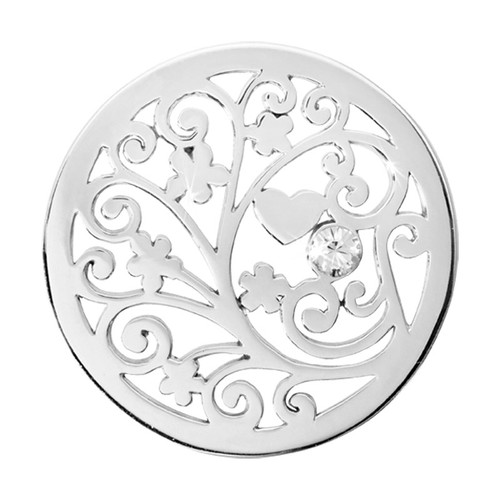 Nikki Lissoni Tree of Love Silver-Plated 33mm Coin C1135SM