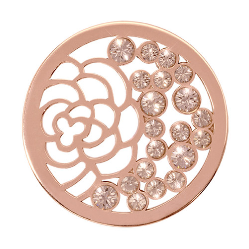 Nikki Lissoni China Garden Rose Gold-Plated 33mm Coin C1158RGM