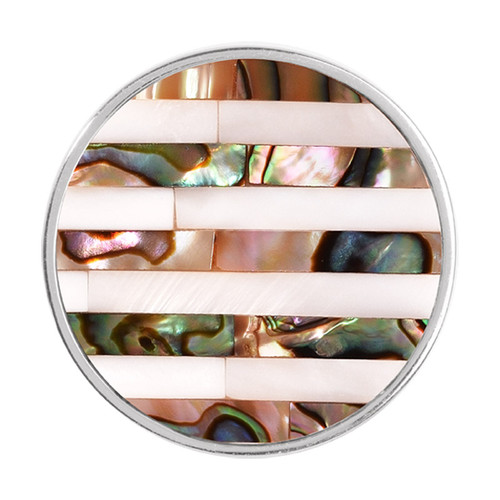 Nikki Lissoni Striped Shell Silver-Plated 33mm Coin C1194SM