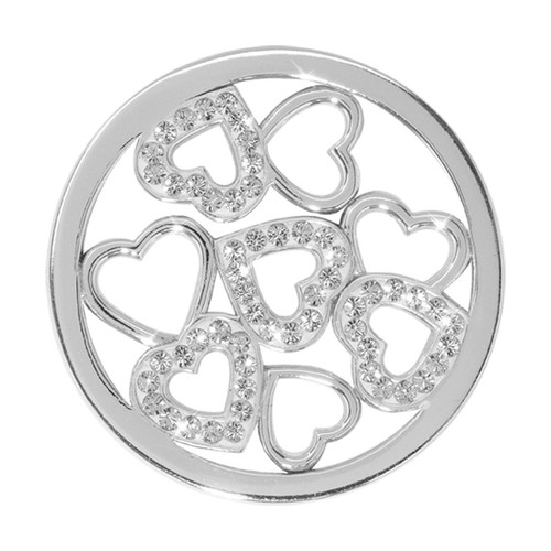 Nikki Lissoni Sparkling Hearts Silver-Plated 33mm Coin C1236SM