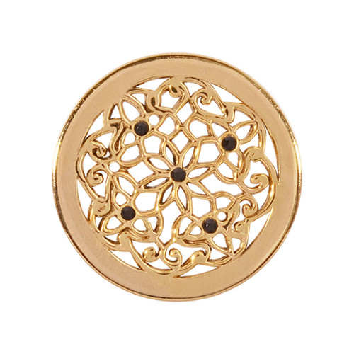 Nikki Lissoni Flower Bed Gold-Plated 23mm Coin C1245GS