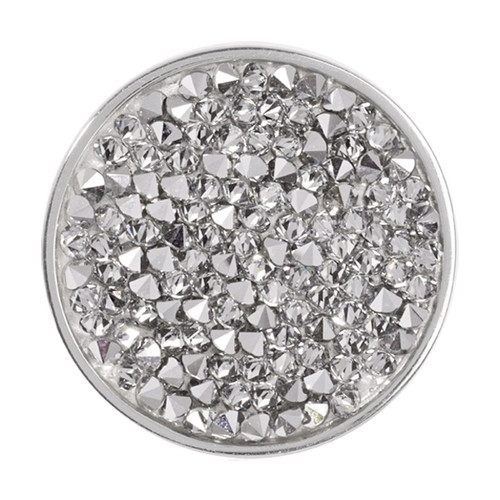 Nikki Lissoni Clear Rock Crystal Silver-Plated 33mm Coin C1258SM