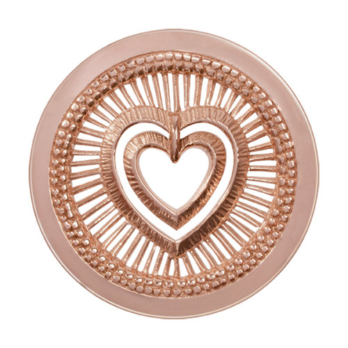 Nikki Lissoni My Heart Will Protect You Rose Gold-Plated 33mm Coin C1281RGM