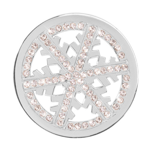 Nikki Lissoni Snowflake Silver-Plated 33mm Coin C1300SM