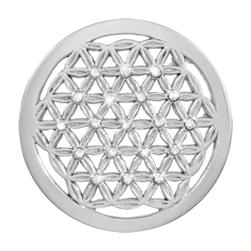 Nikki Lissoni Crystal Maze Silver-Plated 33mm Coin C1389SM