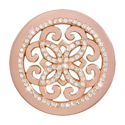 Nikki Lissoni Baroque Freedom Rose Gold-Plated 33mm Coin C1395RGM