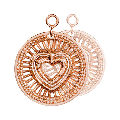 Nikki Lissoni My Heart Will Protect You 2 Pieces Rose Gold-Plated 24mm Earrings EAC2028RG