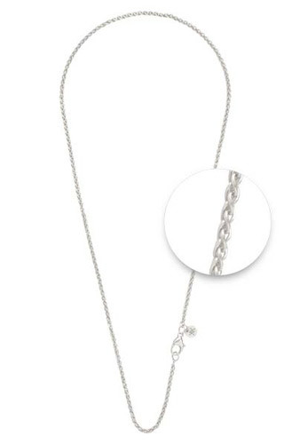 Nikki Lissoni Silver-Plated 2 1mm X 60cm 24in Chain NW01S60