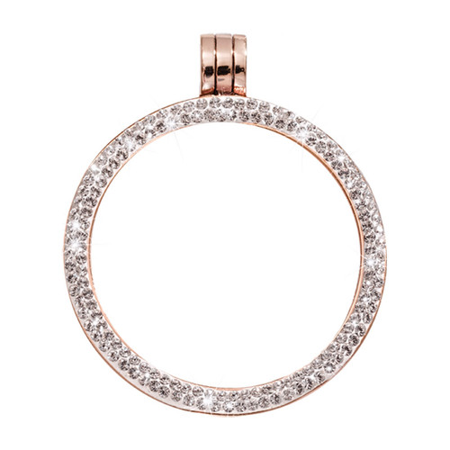 Nikki Lissoni Rose Gold-Plated with Swarovski Stones 35mm Coin Holder PSW03RGM