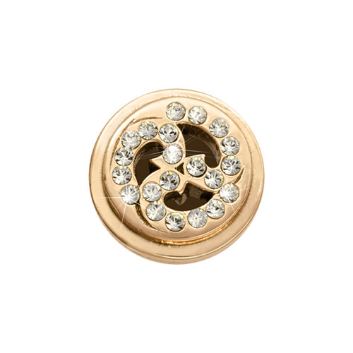 Nikki Lissoni Gold-Plated Sparkling Curls Coin That Fits S Rings MPN: RC2017G EAN: 8718819234296