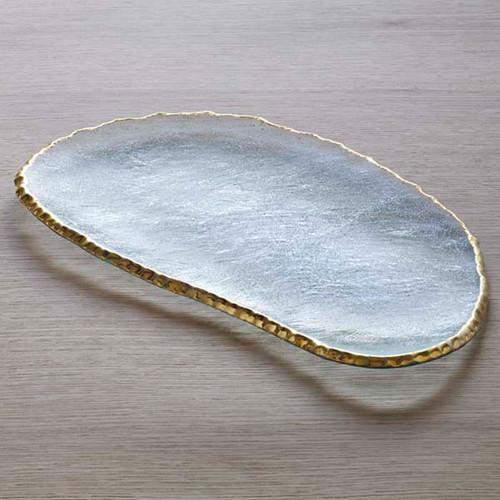 Annieglass Edgey Large Cheese Slab 15 3/4 x 9 Inch - Gold