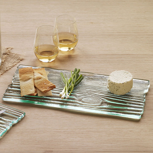 Annieglass Grove Large Plank Cheese Board 15 x 8 Inch
