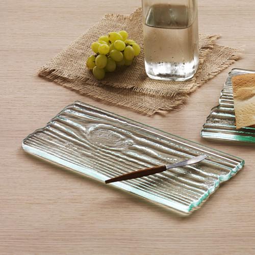 Annieglass Grove Small Plank Cheese Board 12 x 5 1/2 Inch