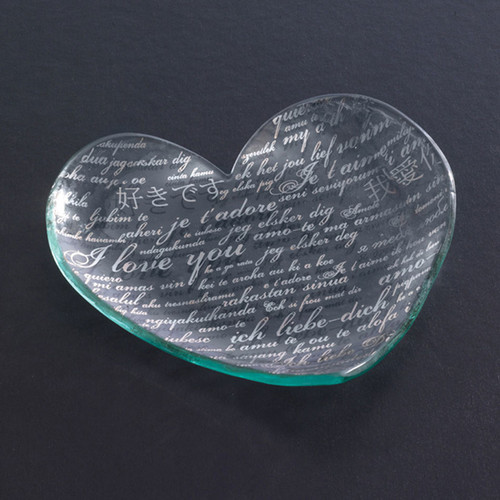 Annieglass Hearts Plate Sweet Nothings 7 Inch - Platinum