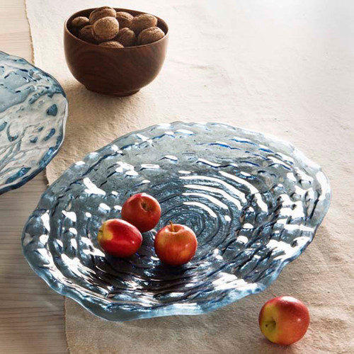 Annieglass Indigo Oval Platter 16 1/2 x 11 1/4 Inch