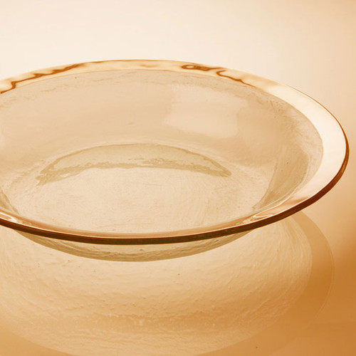 Annieglass Gold Roman Antique Tossing Bowl 15 Inch