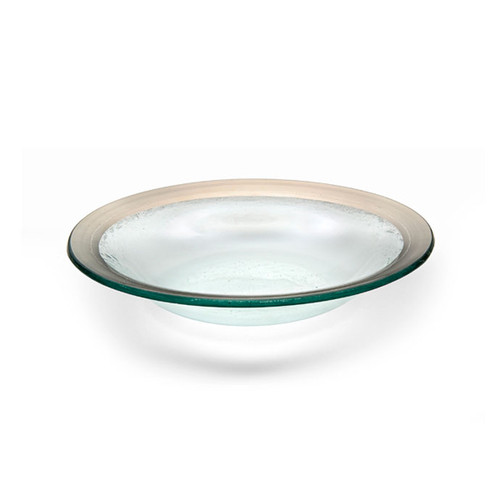 Annieglass Platinum Roman Antique Deep Bowl 15 Oz 9 Inch