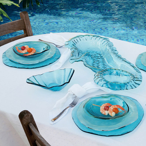 Annieglass Ultramarine Buffet Plate 12 Inch