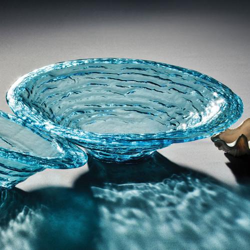 Annieglass Ultramarine Large Rimmed Serving Bowl 16 1/2 Inch