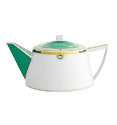 Vista Alegre Emerald Tea Pot