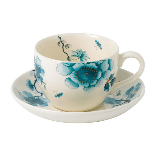 Wedgwood Blue Bird Teacup and Saucer Set