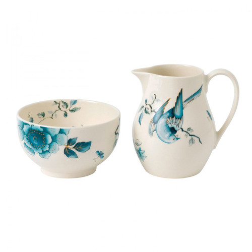 Wedgwood Blue Bird Cream and Sugar Set