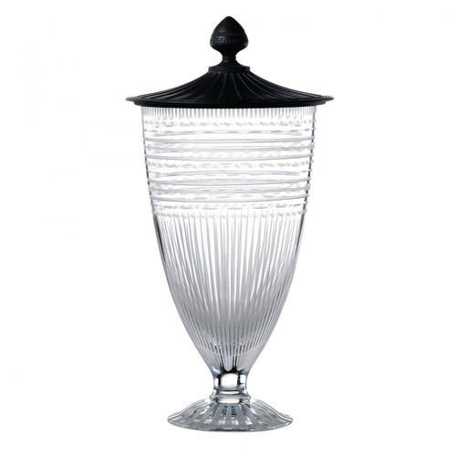 Wedgwood Iconic Crystal Vase 77 Inch With Black Jasper Lid Ltd 30