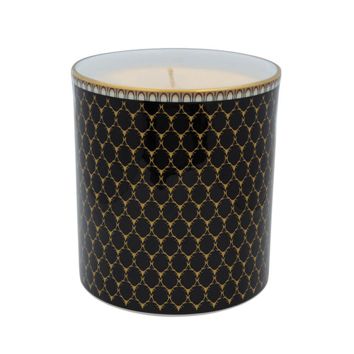 Halcyon Days Antler Trellis Filled Candle Black BCGAT02CAG