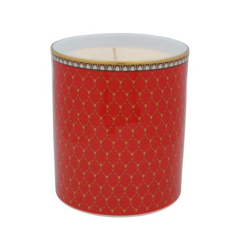 Halcyon Days Antler Trellis Filled Candle Red BCGAT06CAG