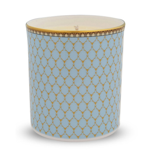 Halcyon Days Antler Trellis Filled Candle Blue BCGAT12CAG