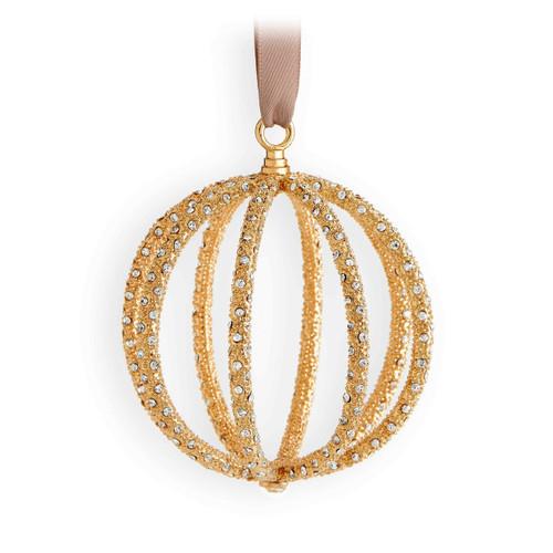 L'Objet  Globe Ornament Gold White OR118