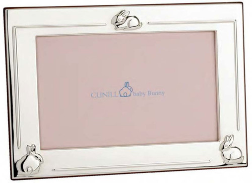 Cunill 3 Bunnies 4 x 6 Inch Picture Frame - Silverplated