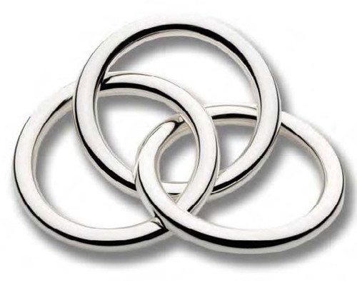 Cunill 3 Rings Rattle - Sterling Silver