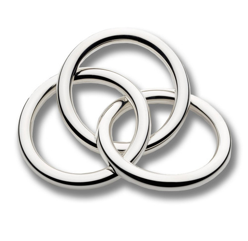 Cunill 3 Rings Rattle - Silverplated