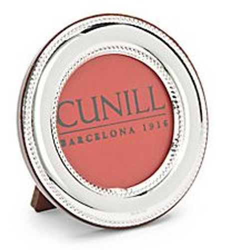 Cunill 5 Inch Round Bead Picture Frame - Sterling Silver
