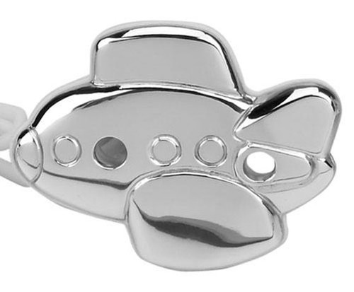 Cunill Airplane Pacifier Clip - Sterling Silver