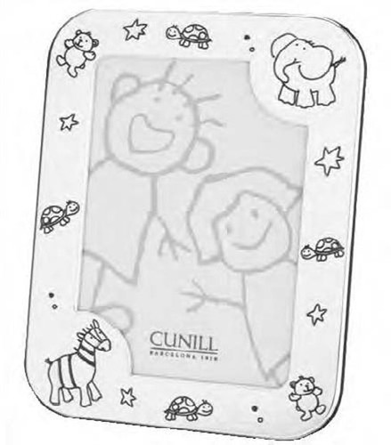 Cunill Baby Zoo 4 x 6 Inch Picture Frame - Silverplated