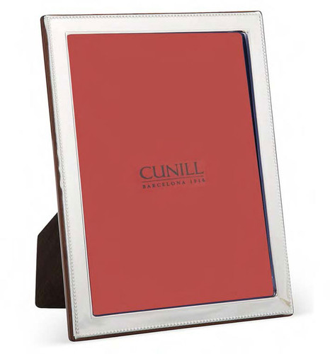 Cunill Bead Bevel 5 x 7 Inch Picture Frame - Sterling Silver
