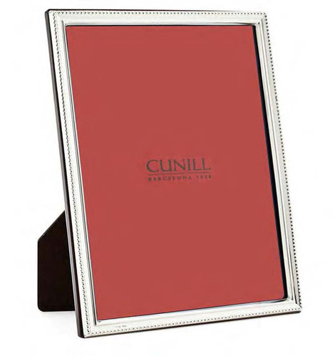 Cunill Bead Profile 8 x 10 Inch Picture Frame - Sterling Silver
