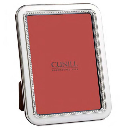 Cunill Bead Rounded Corners 4 x 6 Inch Picture Frame - Sterling Silver