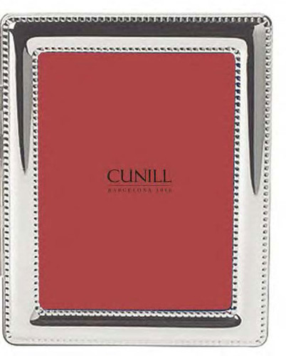 Cunill Beaded 4 x 6 Inch Picture Frame - Silverplated