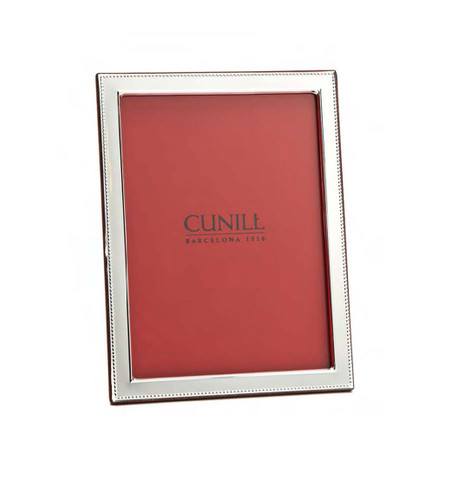 Cunill Beaded Flat 8 x 10 Inch Picture Frame - Sterling Silver