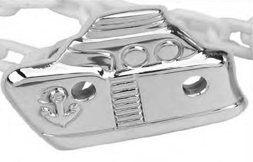Cunill Boat Pacifier Clip - Sterling Silver