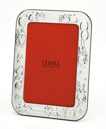 Cunill Bunnies Birth Record 4 x 6 Inch Picture Frame - Silverplated