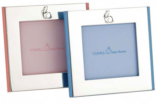 Cunill Bunny 4 x 4 Inch Pink Wood Picture Frames - Silverplated