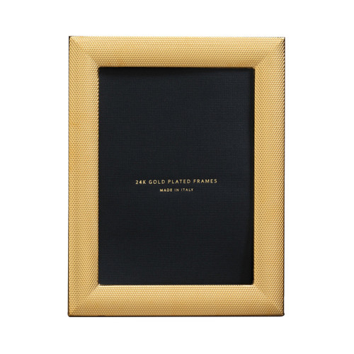 Cunill Cleo 5 x 7 Inch Picture Frame - 24k Gold Plated 0.5 Microns