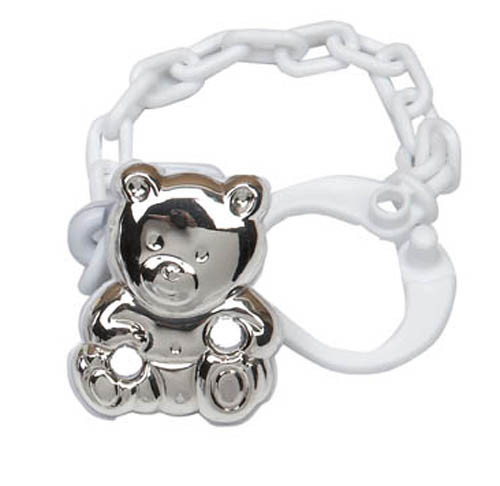 Cunill Cub Pacifier Clip - Sterling Silver